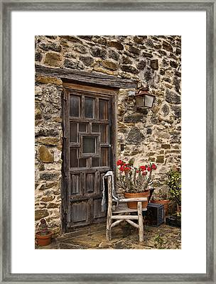 Espada Mission Door Framed Print