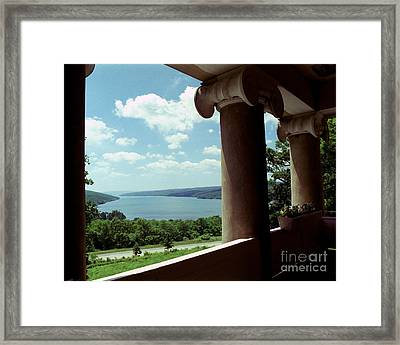 Framed Print featuring the photograph Esperanza Balcony by Tom Brickhouse