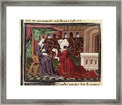 Espinques, Everard De 15th C.. Romance Framed Print by Everett