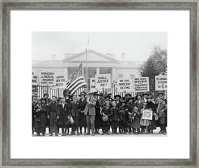 Espionage Act Protest, 1922 Framed Print