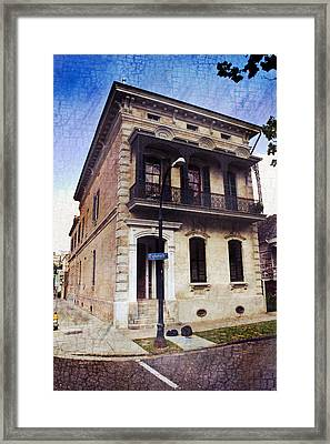 Esplanade Avenue In New Orleans Framed Print by Ray Devlin
