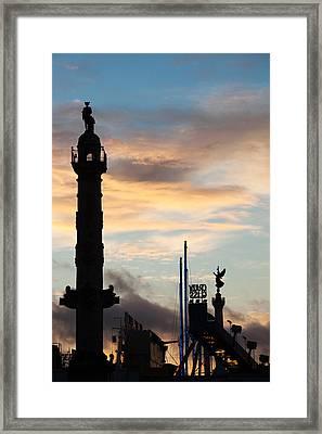 Esplanade Des Quinconces And Carnival Framed Print