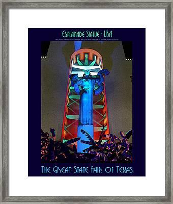 Esplanade Statue - U S A Framed Print by Robert J Sadler
