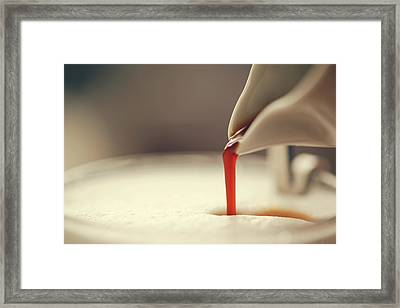 Espresso And Milk Foam Framed Print by Susan.k.