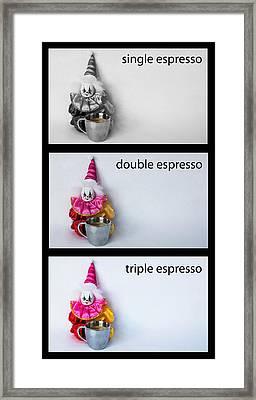 Espresso Choices Framed Print
