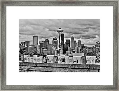 Espresso City Framed Print by Benjamin Yeager