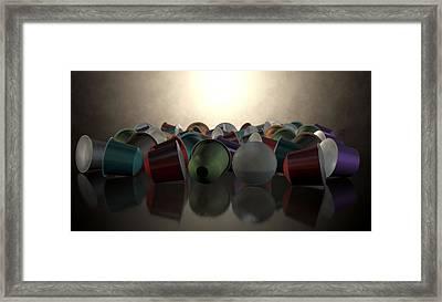 Espresso Coffee Capsules Framed Print