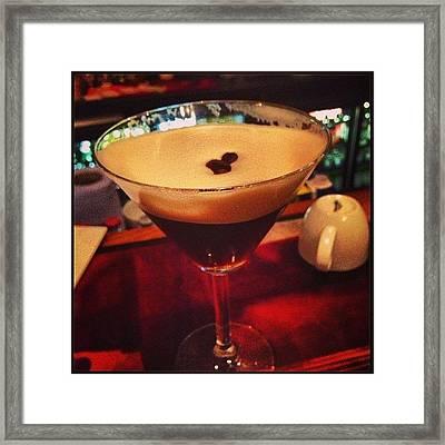 #espresso #martini #absolutwatkins Framed Print