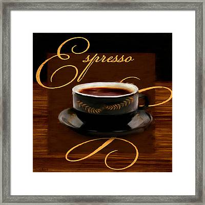 Espresso Passion Framed Print by Lourry Legarde