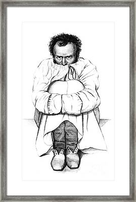 Esquirol Patient, Dementia, 1838 Framed Print by Science Source