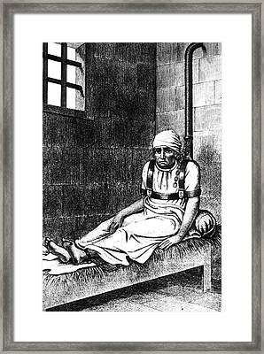 Esquirol Patient, Shackled Patient, 1838 Framed Print by Science Source
