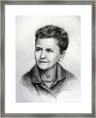 Essa Mae Beatrice Lucas Johnson Framed Print