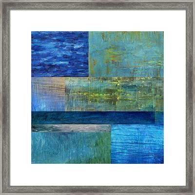 Essence Of Blue 2.0 Framed Print by Michelle Calkins