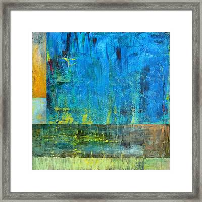 Essence Of Blue Framed Print by Michelle Calkins