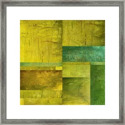 Essence Of Green Framed Print
