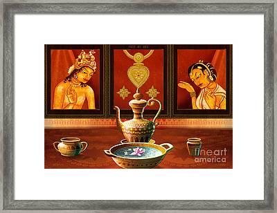 Essence Of Love Framed Print by Bedros Awak