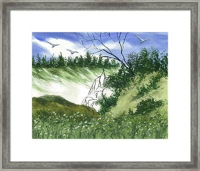 Essence Of The Coast  Framed Print by Karen  Condron