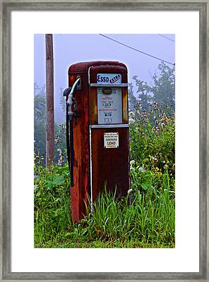 Esso Extra Framed Print by Bill Cannon