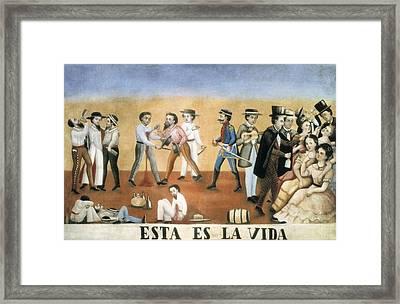 Esta Es La Vida This Is Life. Satirical Framed Print by Everett