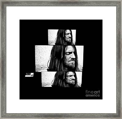 Estas Tonne's Face Framed Print by Fei A