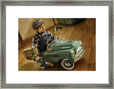 Framed Print featuring the photograph Estate Wagon Pedal Truck by Betty Denise