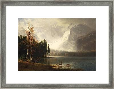 Estes Park Colorado Whytes Lake Framed Print by Albert Bierstadt