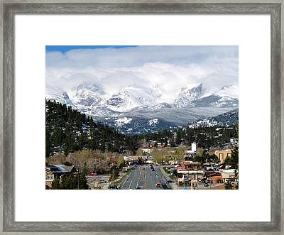 Estes Park In The Spring Framed Print