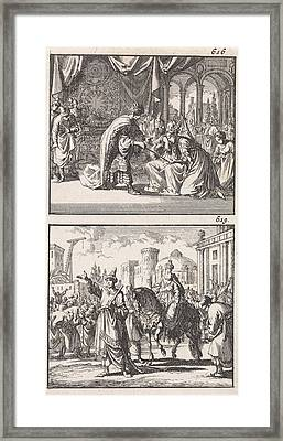 Esther Before Ahasuerus, Triumph Of Mordecai Framed Print