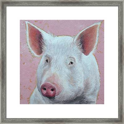 Esther The Wonder Pig Framed Print
