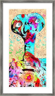 E.t. Grunge Framed Print