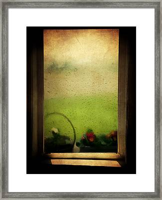 Et Peu A Peu Les Flots Respiraient Comme On Pleure Framed Print by Taylan Apukovska