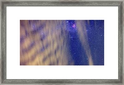 Eta Carina Nebula And Clouds Framed Print by Luis Argerich