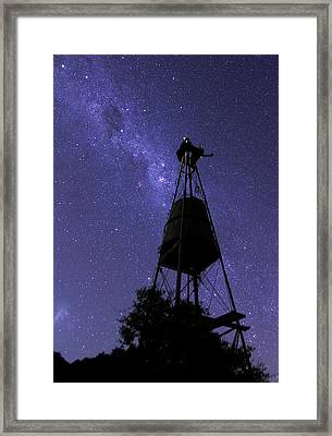 Eta Carina Nebula And Water Tower Framed Print by Luis Argerich