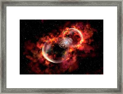 Eta Carinae Outburst Framed Print by Gemini Observatory Artwork By Lynette Cook