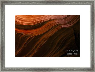 Etched In Stone Framed Print
