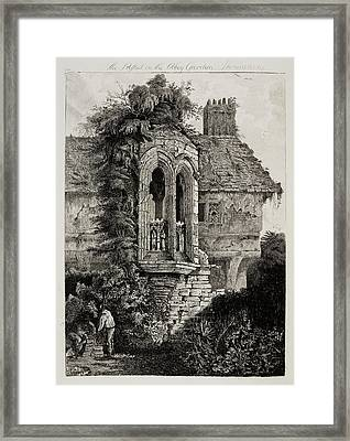 Etchings Of Ancient Buildings Framed Print