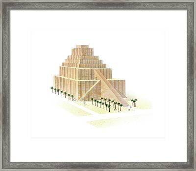 Etemenanki Ziggurat Framed Print