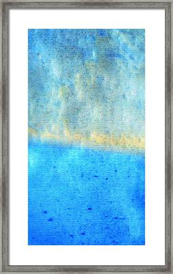 Eternal Blue - Blue Abstract Art By Sharon Cummings Framed Print