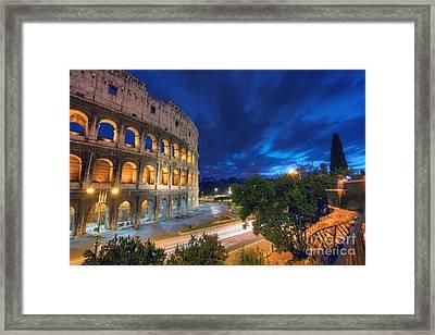 Eternal Blue Hour Framed Print by Marco Crupi