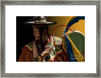 Framed Print featuring the digital art Eternal Drum by Angelika Drake