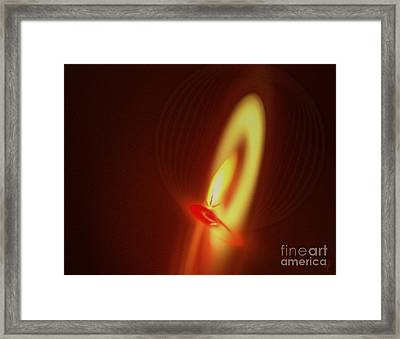 Framed Print featuring the digital art Eternal Flame by Victoria Harrington