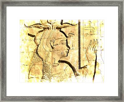 Eternal Goddess Isis Framed Print by Brenda Kean