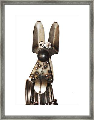 Eternal Guard Dog 1a  Framed Print by Bruce Iorio