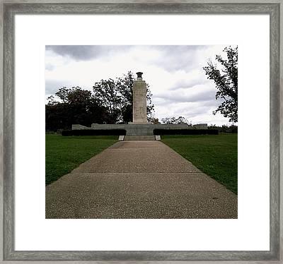 Eternal Light Peace Memorial Framed Print