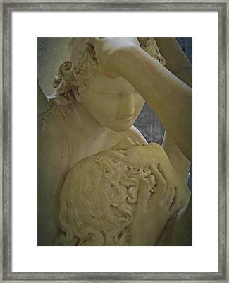 Eternal Love - Psyche Revived By Cupid's Kiss - Louvre - Paris Framed Print by Marianna Mills