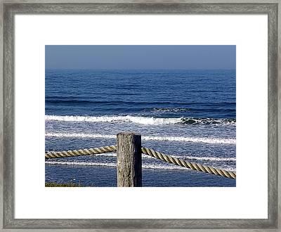 Eternal Sea Framed Print by Janet Ashworth