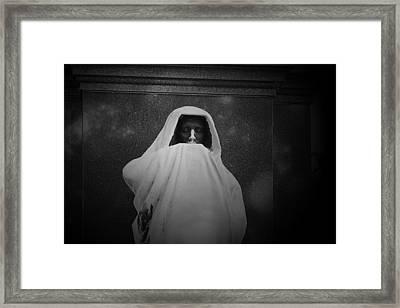 'eternal Silence'- Graceland Cemetery Chicago Framed Print by Christine Till