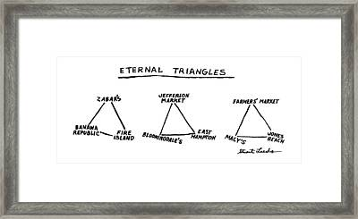 Eternal Triangles: Framed Print by Stuart Leeds