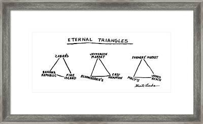 Eternal Triangles: Framed Print