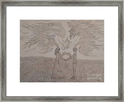 Eternally Torn Framed Print